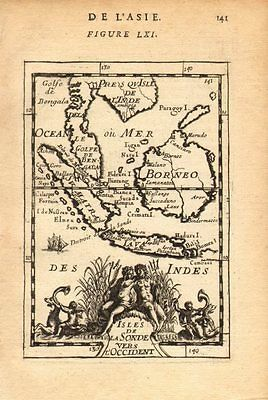 EAST INDIES: Sunda Sumatra Java Borneo Malaya. Indonesia. MALLET, 1683 old map