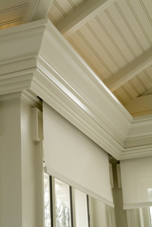 Blinds built into crown....