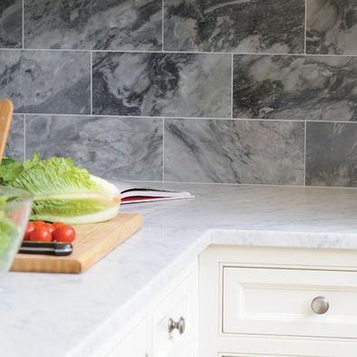 carrara marble backsplash tiles counter kitchen pinterest