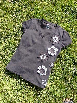 Flower T-shirt Tutorial - a Refashion