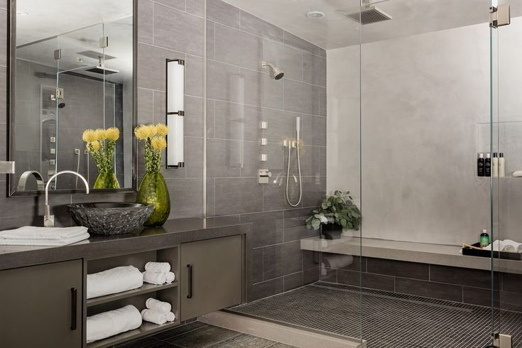 boston travertine bathrooms with modern mosaic tiles bathroom contemporary and wall sconces gray