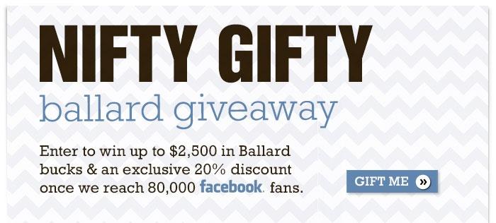 Ballards Nifty Gifty Giveaway