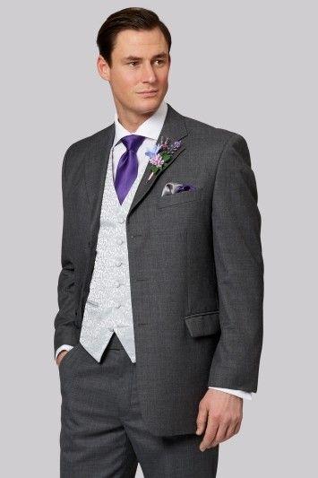 7e4d3da09c20 Sandown Grey Wedding Hire Suit