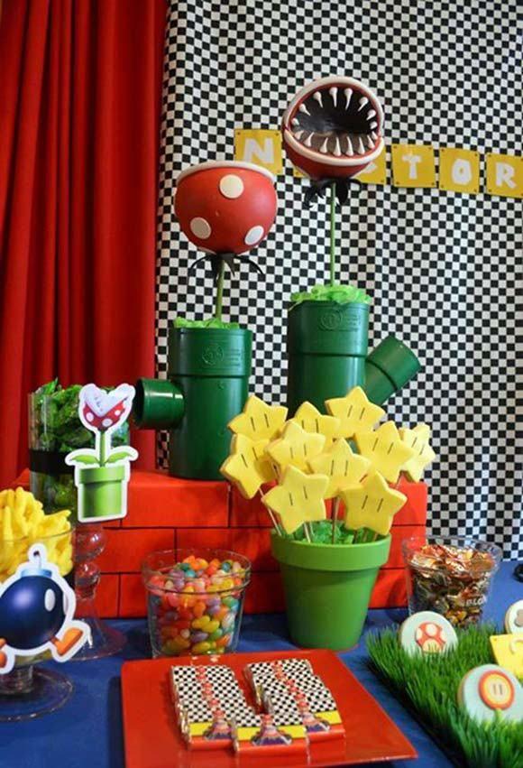 Decoración estrella de Mario Bros