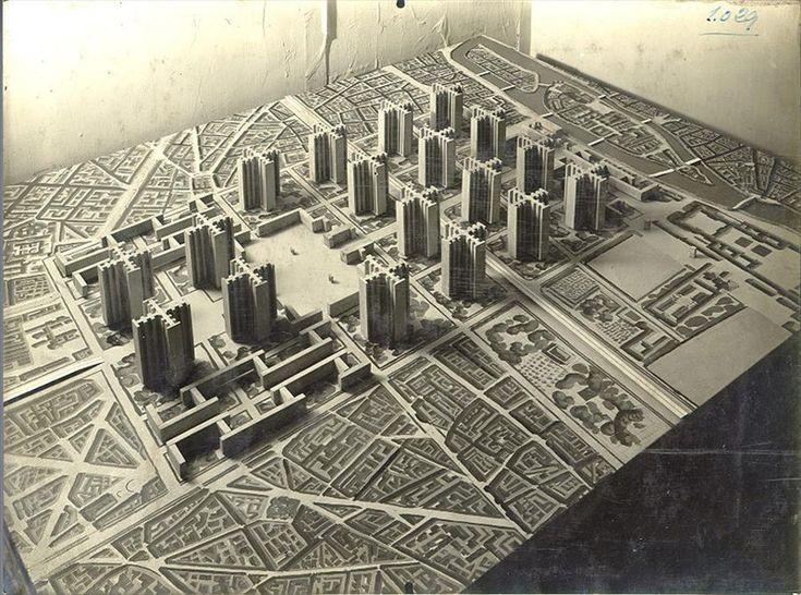Ле Корбюзье / Le Corbusier. «План Вуазен» (Plan Voisin). Проект реконструкции центра Парижа. 1925