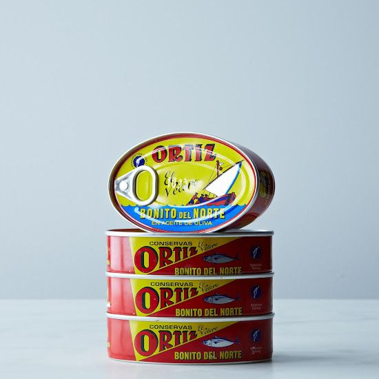 ORTIZ Bonito White Tuna in Olive Oil Oval Tin (4-Pack)