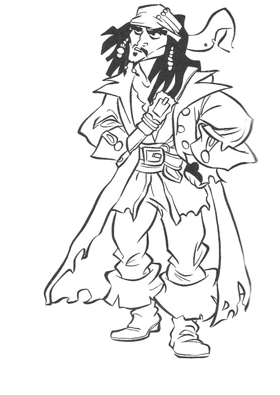 Captain Kid Free Coloring Pages Pirate