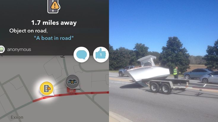 Waze said there was a boat in the road. Really?   funny pictures