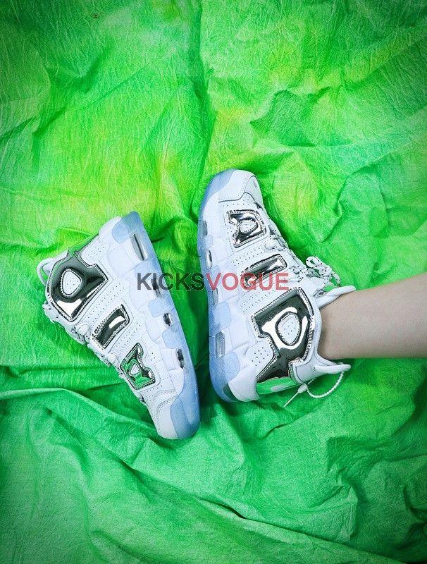 5118959e416 Nike Air More Uptempo Chrome White ice blue 917593-100