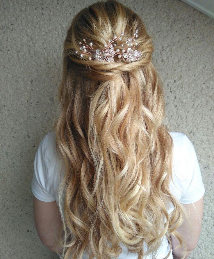 Brautfrisur Halboffen, wedding hairstyle half high half down - Brautstyling by me - #Brautfrisur #Brautstyling #halb # halboffen #hoc