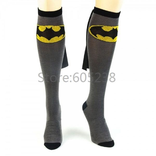 Aliexpress.com : Buy Free Shipping 1Pair Polyester Batman Caped Socks Super Hero Stockings from Reliable stockings restaurant suppliers on Geek Alert