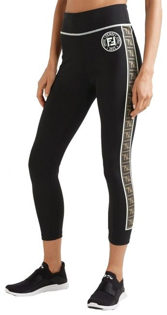 06901c907a813 Fendi Black Sold Out Roma Printed Logo Leggings Size 4 (S, 27) in ...