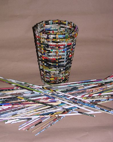 1000 Images About Diy Recycle Paper Baskets On Pinterest