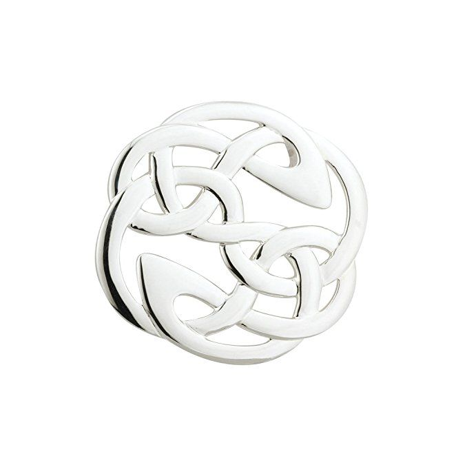 Celtic Knot Brooch Sterling Silver Made in Ireland