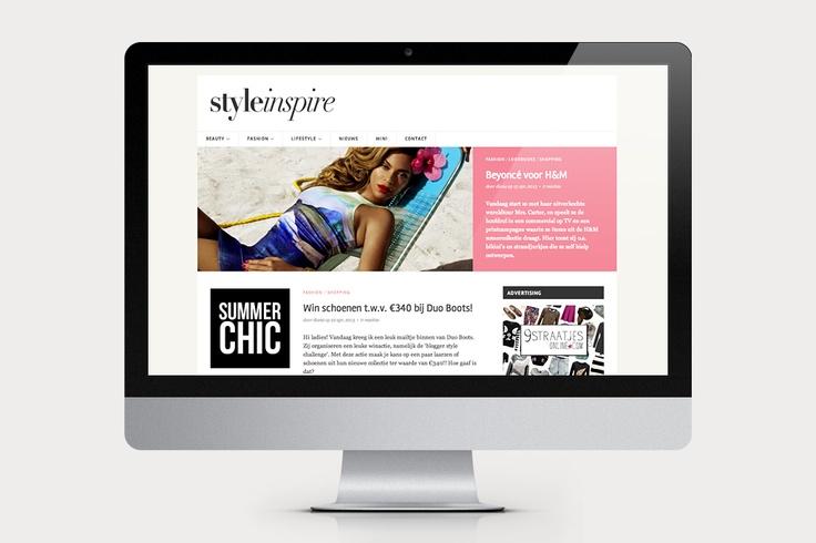 Styleinspire is een gezellig #blog waar twee zussen dagelijks een artikel plaatsen omtrent beauty, mode en lifestyle. De #website heeft een rustige uitstraling zodat deze mooi overzichtelijk blijft. Door middel van een #slideshow staan de nieuwste en/of leukste artikelen centraal. Naast de website hebben wij ook de #visitekaartjes mogen verzorgen.