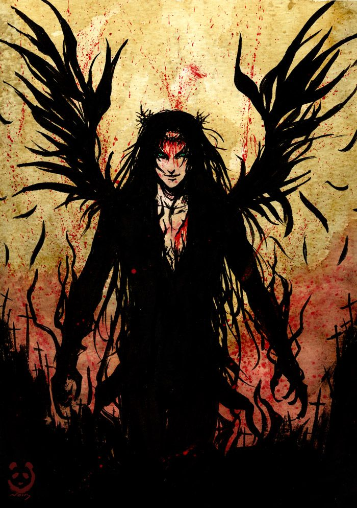 """(Open rp for him)  He landed only a few feet away from me with a thud. His dark wings melted into the night but I knew they where there, I could feel them, just as I could feel his rage. """" Why did you follow me?"""" He growled, glowering at me from under his dark lashes. """"I want to go with you."""" I stammered. He laughed cruelly and grabbed my arm, pushing off the ground hard."""