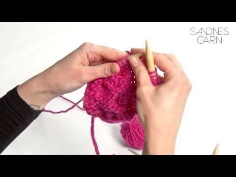 Sandnes Garn - Hvordan strikke flettemønster - YouTube