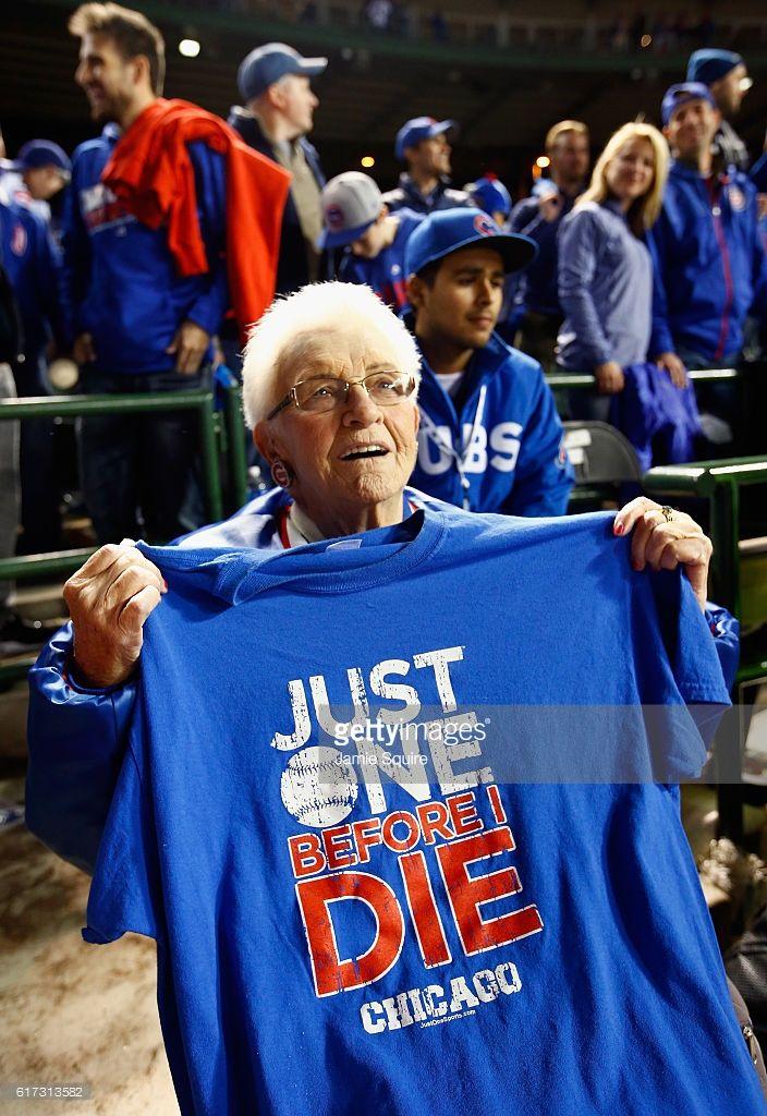 Cubs fan Dorothy Farrell//Oct 22,2016 Game 6 NLCS v LAD