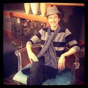 Chris Chameleon in ons ateljee.