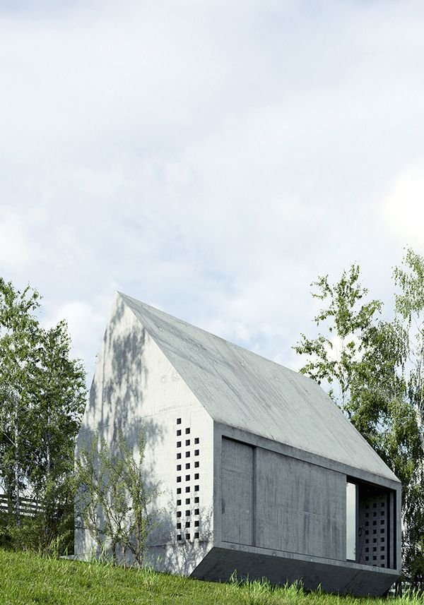 The idea of a small country house inspired by Konieczny  Ark ??Project RA_