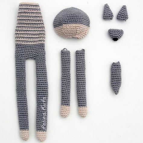 Polina Kuts: МК Волк вязанный крючком. Crochet wolf