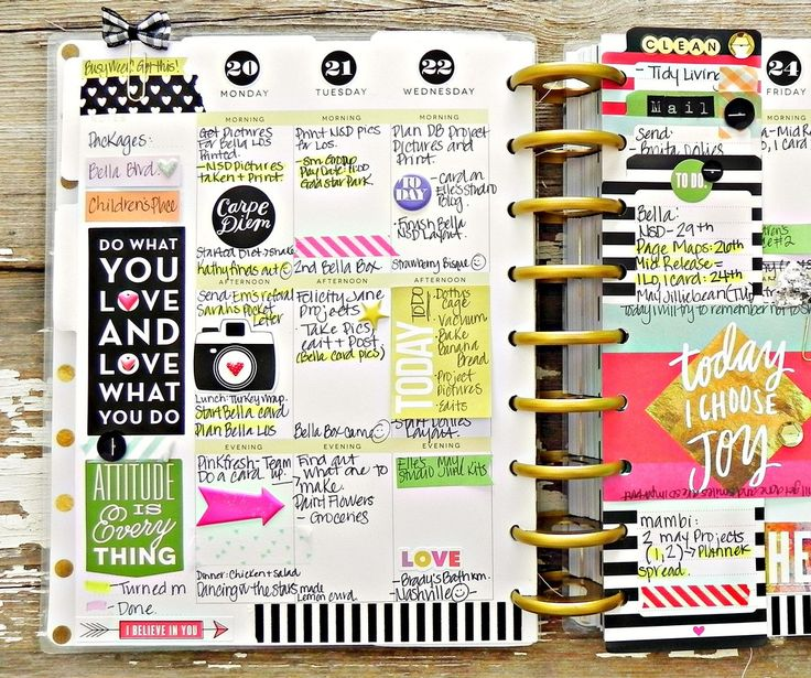 'Today I Choose Joy' weekly spread in Create365™ The Happy Planner™ by mambi Design Team member Stephanie Buice | me & my BIG ideas