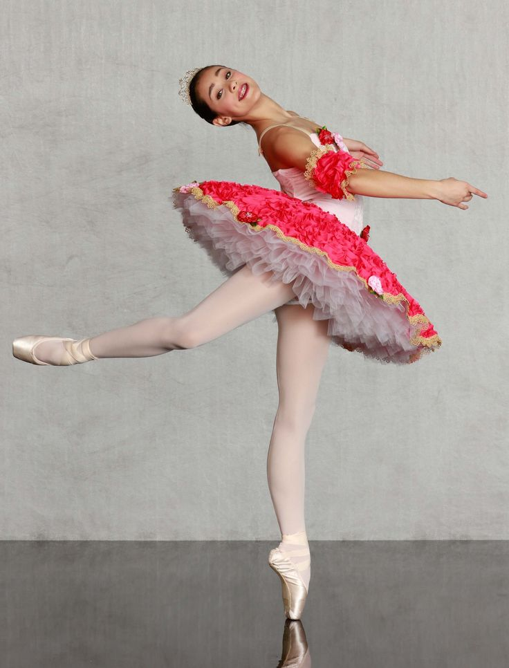 """RADIANT ROSEBUDS - Our """"Flexi Fit"""" classical ballet bodice leotard in pastel pink stretch velvet with lovely ribbon rosettes. Lush 8 layer tutu is blooming with a gorgeous gold venetian trimmed plate, lace panty and velvet basque. Back zipper closure, sleeves and pearl tiara included. Made in sizes child medium thru adult."""