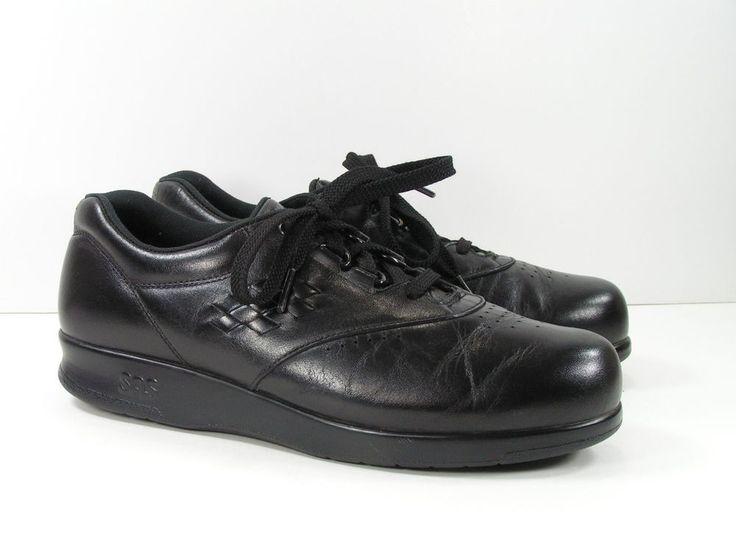 sas free time shoes womens 7 M black tripad comfort leather walking lacer  ladies #sas