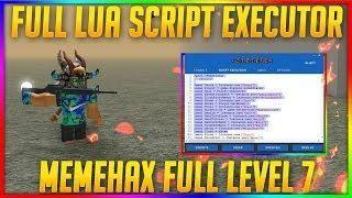 Full Lua Script Executor New Roblox Hack Exploit Memehax Full Level - memehax roblox