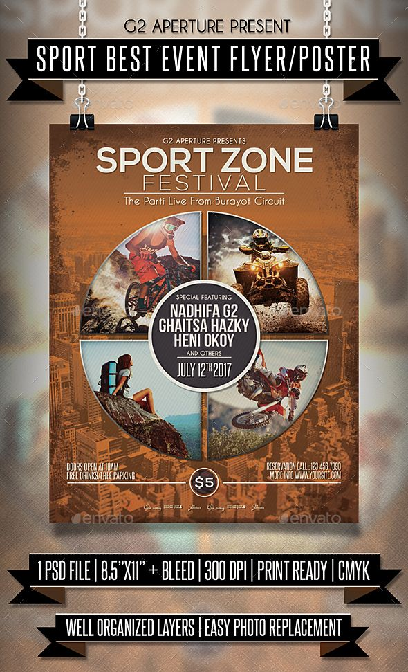 289 best Sport Flyer Templates images on Pinterest Templates - gym brochure templates