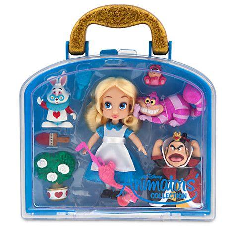Disney Animators' Collection Alice Mini Doll Play Set - 5''