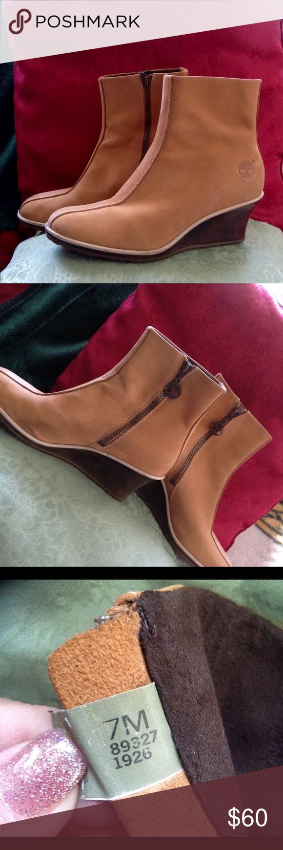 💥SALE!Authentic Timberland ankle zipper boots Size 7, leather , EUC authentic Timberland ankle boots. Normal wear and little scuffs on the heel ( shown on pic) .zipper works perfect. Timberland Shoes Ankle Boots & Booties