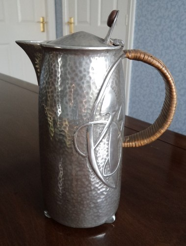 Archibold Knox Liberty Tudric Polished Water Coffee Pot C1910 | eBay