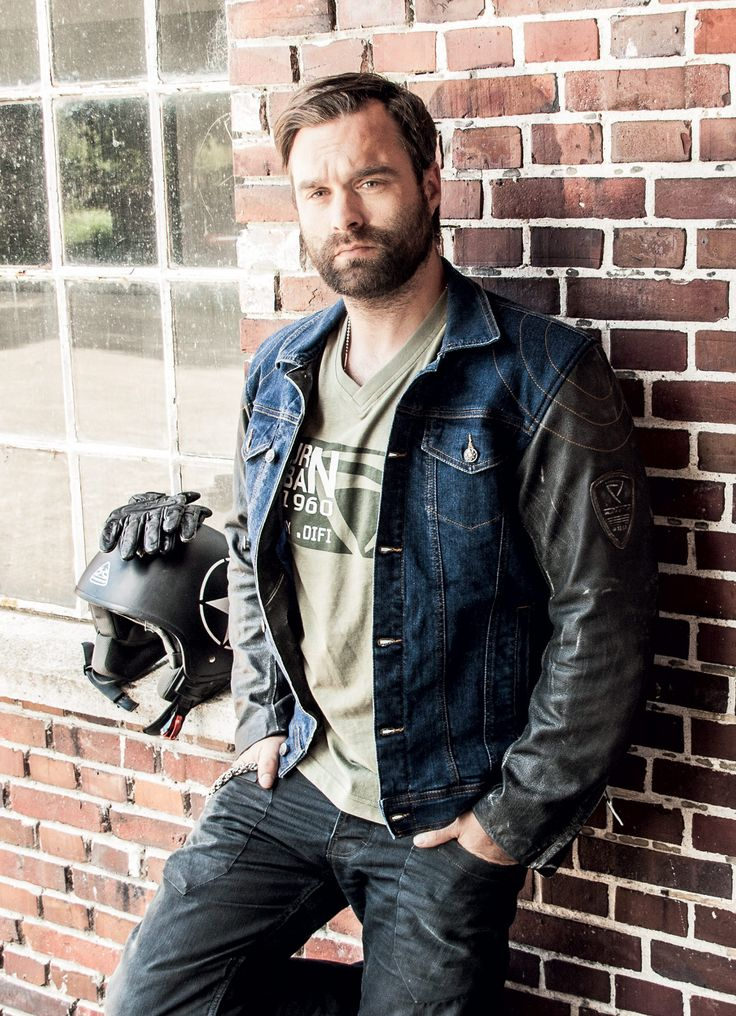 Difi Alabama Motorradjacke. Cracking Little Denim & Lederjacke. Sieht so aus …   – bearded hairstyle