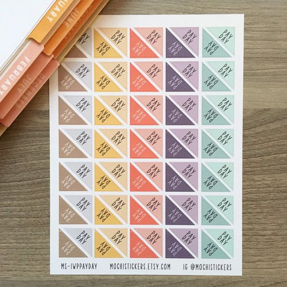 Triangle corner stickers for your planner! These have been colorpicked to go with the 2016 Inkwell Press Planners but can be used in any planner or