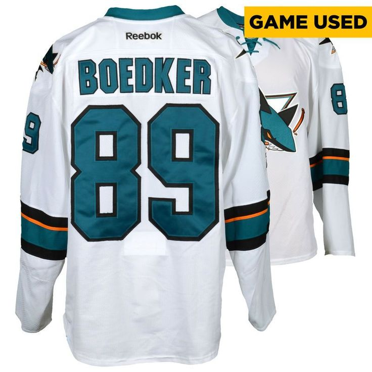 Mikkel Boedker San Jose Sharks Fanatics Authentic Game-Used Away White #89 Jersey used during all games between March 30, 2017 to April 3, 2017 - Size 56