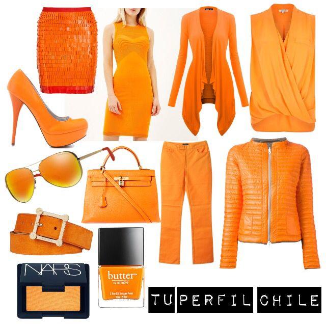 NARANJA: El color naranja aporta energía y alegría, pero es un color un poco difícil de combinar según el tipo de piel, el color naranja es un color cálido y va muy bien con pieles morenas.