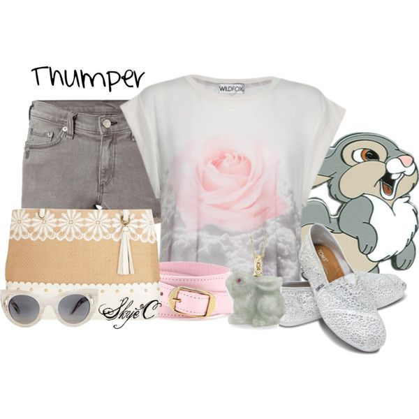 """""""Thumper - Summer - Disney's Bambi"""" by rubytyra on Polyvore"""