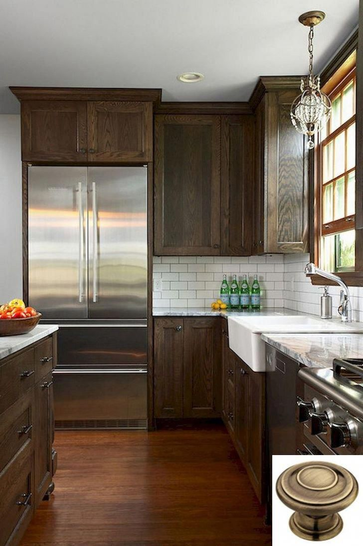 Dark Light Oak Maple Cherry Cabinetry And Kitchen Cabinets Wood Vs White Chec Stained Kitchen Cabinets New Kitchen Cabinets Backsplash With Dark Cabinets