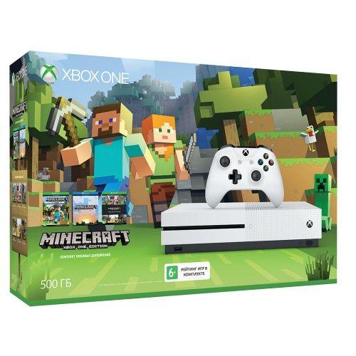 Microsoft Xbox One S 500 ГБ + Minecraft