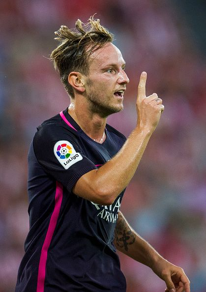 Ivan Rakitic of FC Barcelona celebrates after scoring goal during the La Liga…