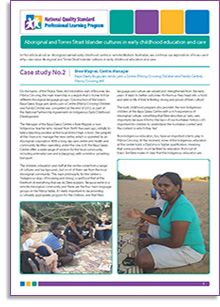 Case Study No. 2 of the 'Aboriginal and Torres Strait Islander cultures in early childhood education and care' is out now! Download it here: http://bit.ly/1d9kQ8z In this article about an Aboriginal-owned early childhood centre in remote Western Australian, we continue our exploration of how—and why—we value Aboriginal and Torres Strait Islander cultures in early childhood education and care.