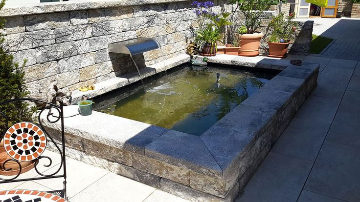 referenzen referenzen garten brunnen terrassenbrunnen und gfk teichbecken pinterest teich. Black Bedroom Furniture Sets. Home Design Ideas