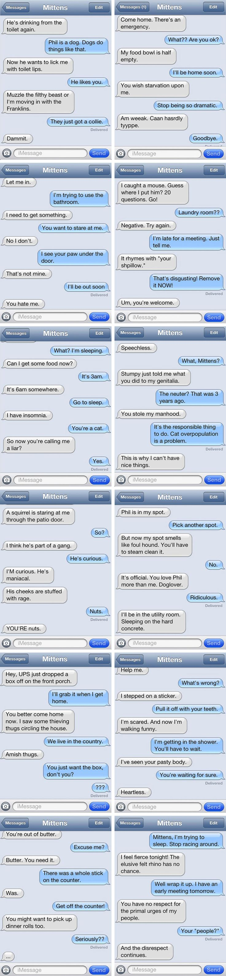 Texts with Mittens