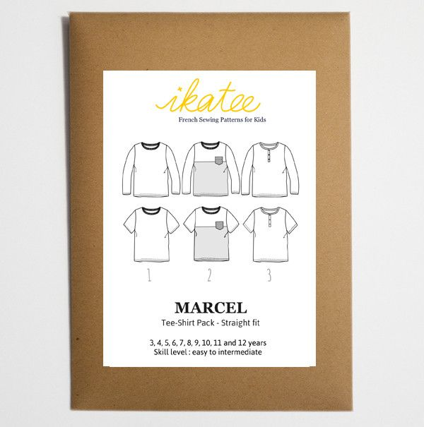 T-shirts pack Paper Sewing Pattern & Guidebook An essential DIY classic sewing pattern for boys. These tee-shirts come in three versions. Paper sewing patte