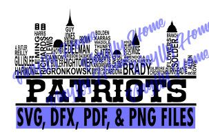 New England Patriots SVG; New England Skyline SVG; New England Patriots Skyline SVG; New England Patriots Players; Patriots Roster by VinyllyHomeCreations on Etsy