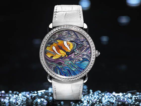 La Cote des Montres : Cartier Montres métiers d'art collection 2013 - Cartier fait entrer la couleur dans le champ des émotions esthétiques