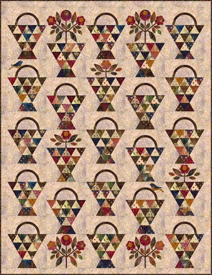 1598 best BASKET QUILTS A images on Pinterest | Basket quilt ... : quilted basket pattern - Adamdwight.com