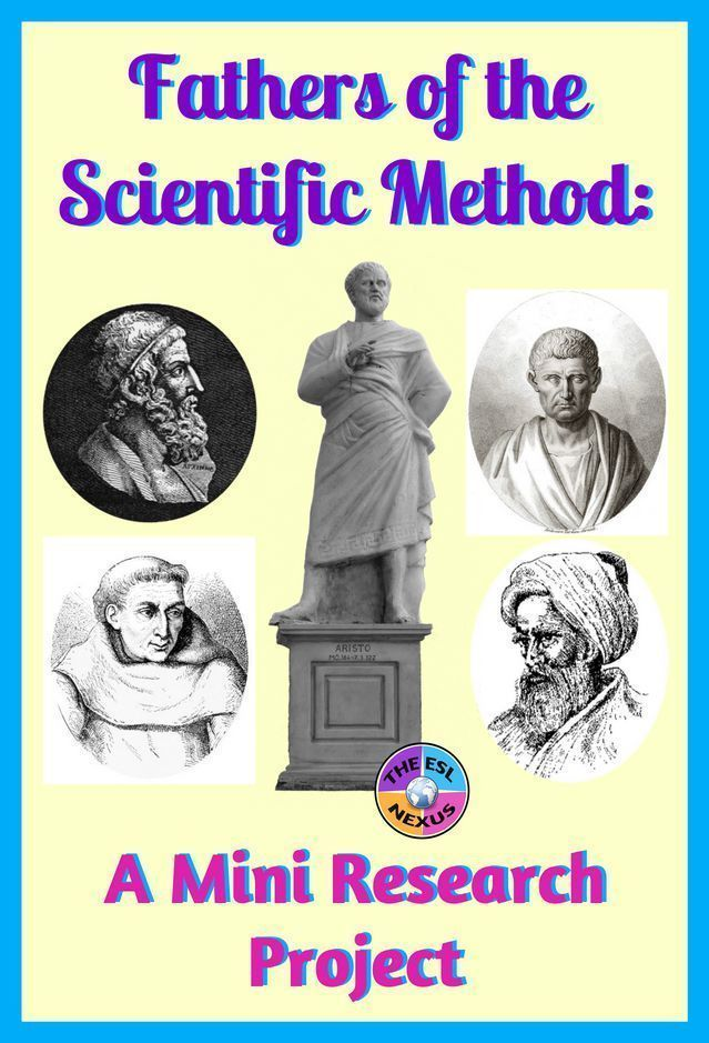 Fathers Of The Scientific Method Research Project Scientific Method Middle School Science Experiments Research Projects