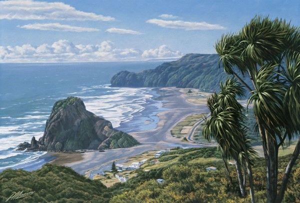 Piha Waitakeres By Peter Morath New Zealand Landscape New